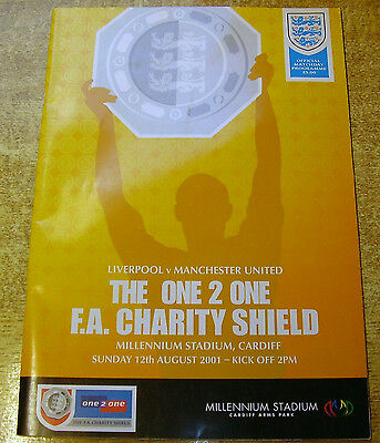 2001 CHARITY SHIELD - LIVERPOOL v MANCHESTER UNITED