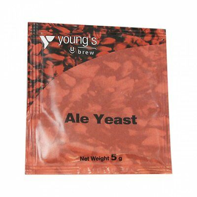 Youngs Ale Yeast Home Brew Beer Making Brew Brewing Fermenting 5g Sachet
