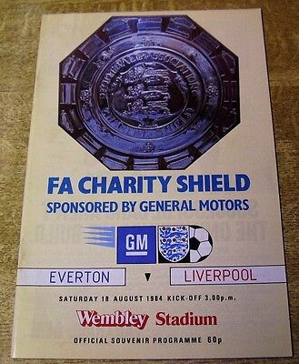1984 CHARITY SHIELD - LIVERPOOL v EVERTON