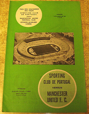 1963/64 CUP WINNERS CUP - SPORTING (LISBON) v MANCHESTER UNITED - 18 MARCH 1964