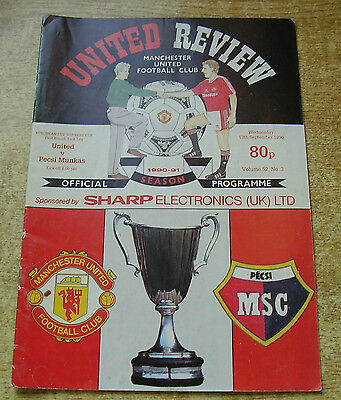 1990/91 CUP WINNERS CUP - MANCHESTER UNITED v PECSI MUNKAS