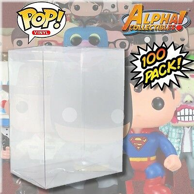 "100 Premium .40Mm 4"" Funko Pop Box Cystal Clear Protector Case Protective Cover"