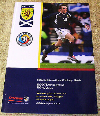 2004 FRIENDLY INTERNATIONAL - SCOTLAND v ROMANIA