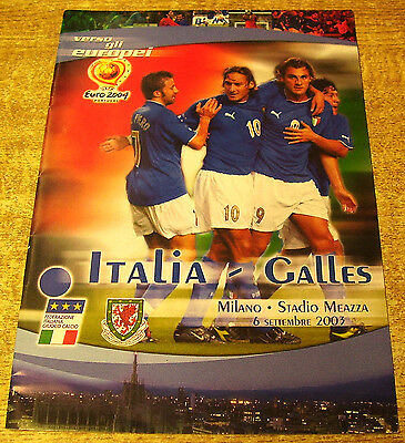2003 EUROPEAN CHAMPIONSHIP QUALIFIER - ITALY v WALES