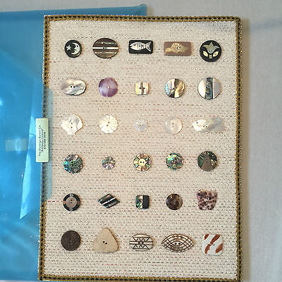 Handmade Mother Of Pearl Shell Horn Buttons On Card - Durango Button Co. Rr657