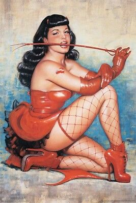 BETTIE PAGE ~ DON'T TREAD ON ME 24x36 POSTER Betty Pinup Olivia De Berardinis