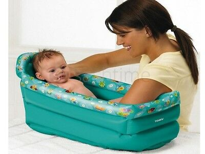 New Tomy Inflatable Kids Children Toddler Soft Bath Tub Infant Travel Portable