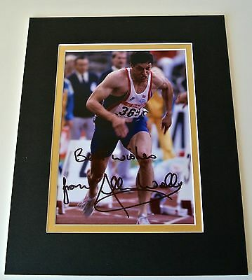 Allan Wells Signed Autograph 10x8 photo display Olympic Games 1980 Moscow & COA