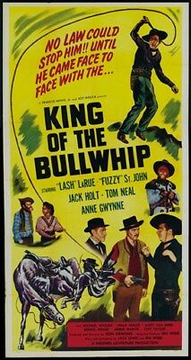 "King of the Bullwhip (1950) ""Lash"" Larue Cult Western movie poster print"
