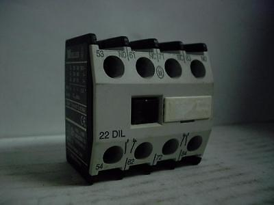 Moeller 22-Dil Contactor Auxiliary Block 2 N.o. 2 N.c. Quantity!!