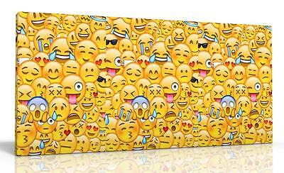 Single Canvas Picture Wall Art Emoji Emojis Kids Free P&p New