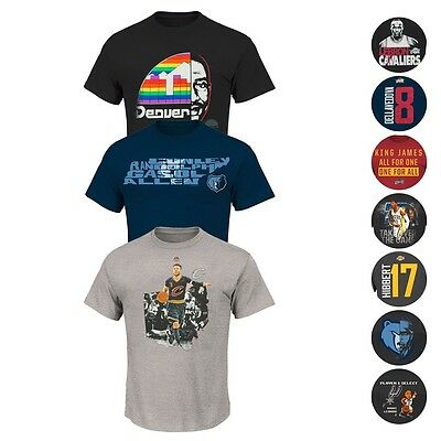 7331dc239999 NBA Assortment of Team Player Jersey Graphic T-Shirt Collection by MAJESTIC  Men