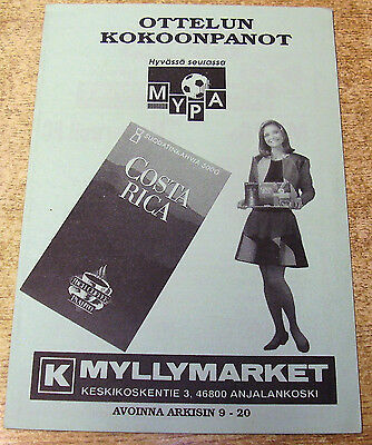 1995/96 UEFA CUP PRELIMINARY ROUND - MYPA-47 v MOTHERWELL
