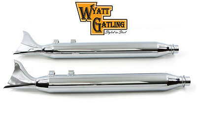Wyatt Gatling Fishtail Muffler Set, SET,for Harley Davidson motorcycles,by V-Twi