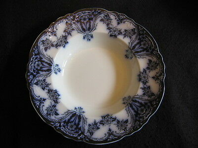 "VICTORIAN ALFRED MEAKIN 'OXFORD' FLOW BLUE 10"" SOUP PLATE c.1900 SUPERB!!"