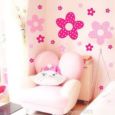 Pink PRINCESS Flowers Mural Art Decal Wall Stickers 86 Flowers