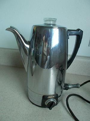 Vintage Sunbeam AP10A Chrome COFFEE POT Percolator maker WORKS COMPLETE #71