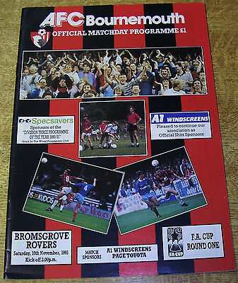 1991/92 FA CUP 1ST ROUND - BOURNEMOUTH v BROMSGROVE ROVERS