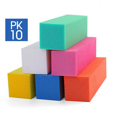 10pcs Nail Sanding Block Buffer Acrylic Files Art Sand Surface Sponge