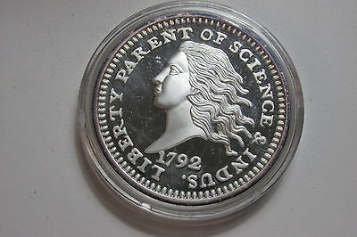 Large 2 oz. 999 Fine Silver Round 1792 Copper Disme 43mm E1