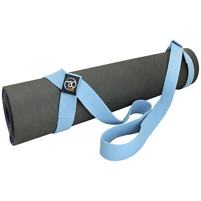 Fitness Mad Yoga Mat Carry Strap Gym Exercise Tools Carrier Light Blue rrp£14