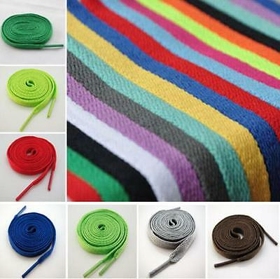 "51"" 130cm Long FLAT Athletic SHOELACES Sport Sneaker Boots Shoe Laces Strings"
