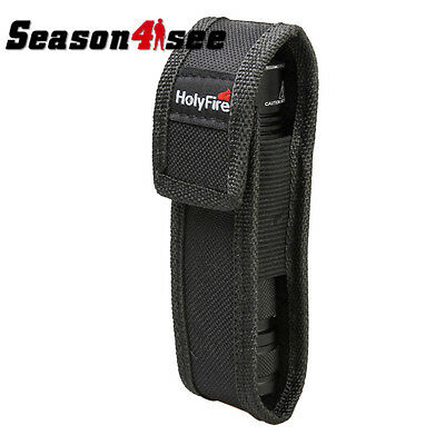 Tactical 14 X 4cm Nylon Flashlight Pouch Holster Cover Case For HolyFire Black