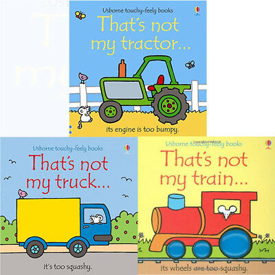 Thats Not My Series 2 :3 Books bundle Collection Set Fiona Watt tractor truck
