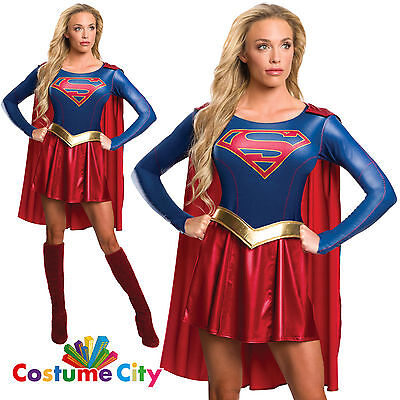 Womens Ladies Official Supergirl TV Series Halloween Fancy Dress Party Costume