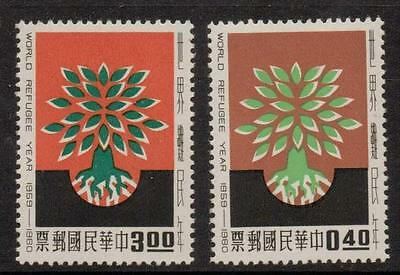 Taiwan Sg349/50 1960 World Refugee Year Mnh