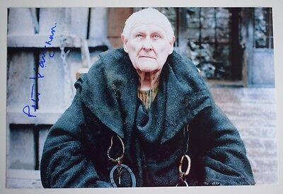 Peter Vaughan SIGNED 12x8 Photo Autograph Game of Thrones TV AFTAL & COA