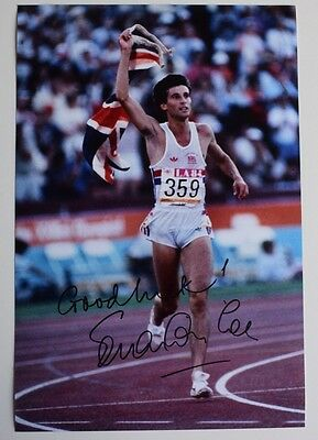 Sebastian Coe SIGNED 12x8 Photo Authentic Autograph Olympics AFTAL & COA