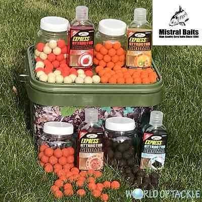 Carp Fishing Bait Set 5l Camo Bucket + Additives / Dips + Boilies in Glug Pots