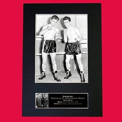 KRAY TWINS Ronnie & Reggie Signed Autograph Mounted Repro Photo PRINT A4 No611