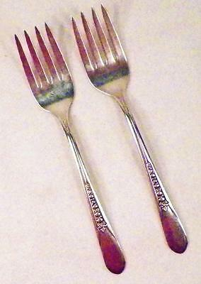 2 Priscilla Silverplate Salad Forks Rogers International 1941 Lady Ann Fork