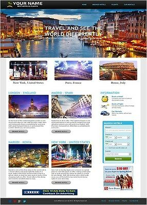 Automated Hotel, Flight And Car Rental Search Engine Website Business For Sale