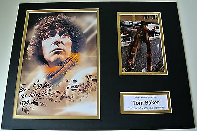 Tom Baker Signed Autograph 16x12 photo mount display Doctor Who TV Actor & COA