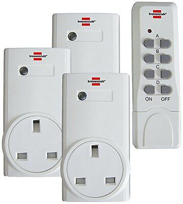 Brennesthul UK Remote Control Socket Wireless Switch Mains Plug AC Power Outlet