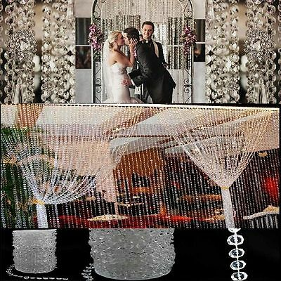 99ft/30m Wedding Favors Decor Acrylic Crystal Beads Strand Garland Curtains WV35