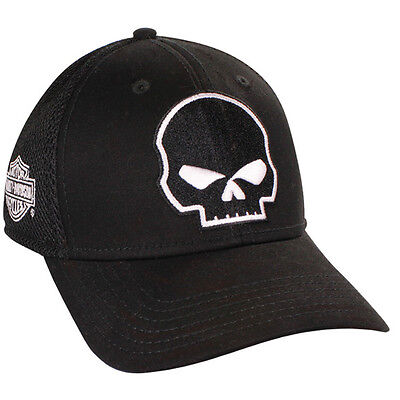 Harley Davidson WILLIE G Black Cotton Blend Baseball Cap HAT