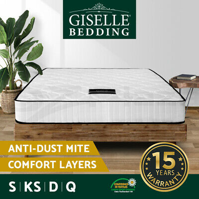 Giselle Bedding Mattress Queen Double King Single Size Bed Pocket Spring Foam 21