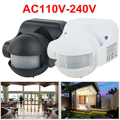 Outdoor 180 Degree Security PIR Motion Movement Sensor Detector Switch 2 Colors