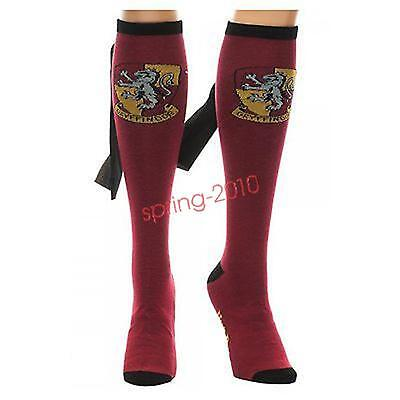 Harry Potter Women's Gryffindor Caped Knee High Socks - One Size