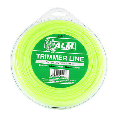 ALM SL022 2.0mm x 61m Green Strimmer Spool Replacement Line Fits Most Trimmers