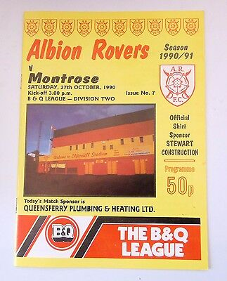 ALBION ROVERS v. MONTROSE SCOTTISH DIVISION 2 OCTOBER 27 1990 CLIFTONHILL
