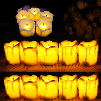 12 Candles Tealight Led Tea Light Flameless Flickering Wedding Battery Included