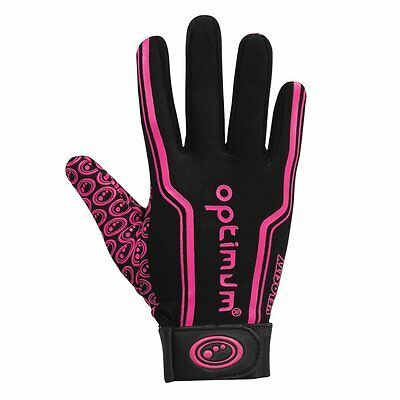 034418 Optimum Velocity Thermal Full Finger Gloves- Black/Pink