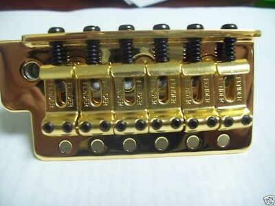 NEW - Fender Bridge Assembly For Mexican Strat - GOLD, 005-9561-000
