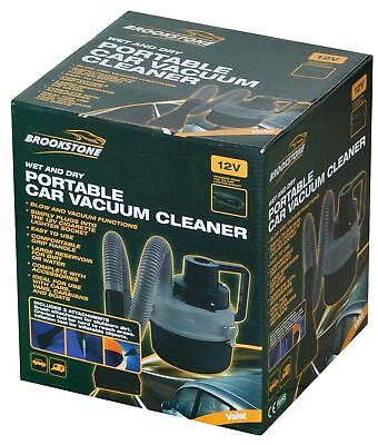 Brookstone Portable Wet and Dry Auto Vacuum Cleaner Car Boat Truck Lorry Vehicle