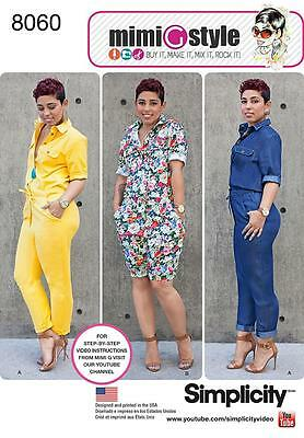 Simplicity SEWING PATTERN 8060 Jumpsuit In 2 Lengths Misses 6-14 Or 16-24